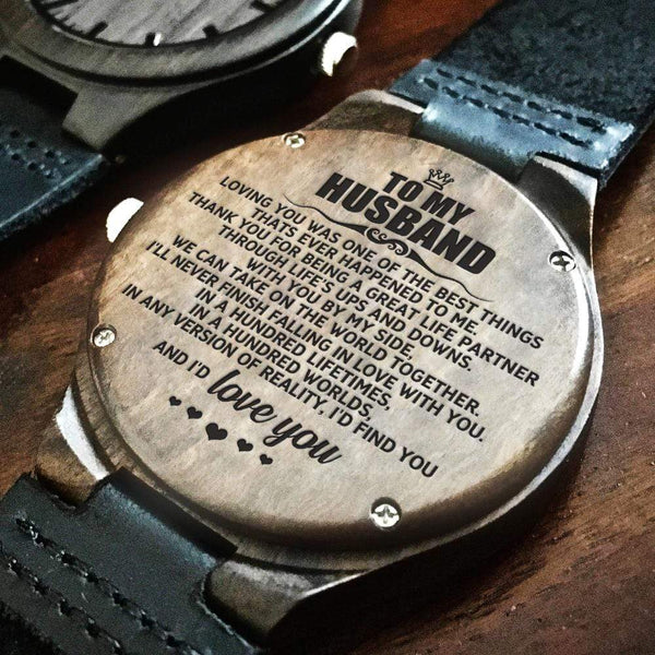 To My Husband - Wood Watch - WH-DF20B289