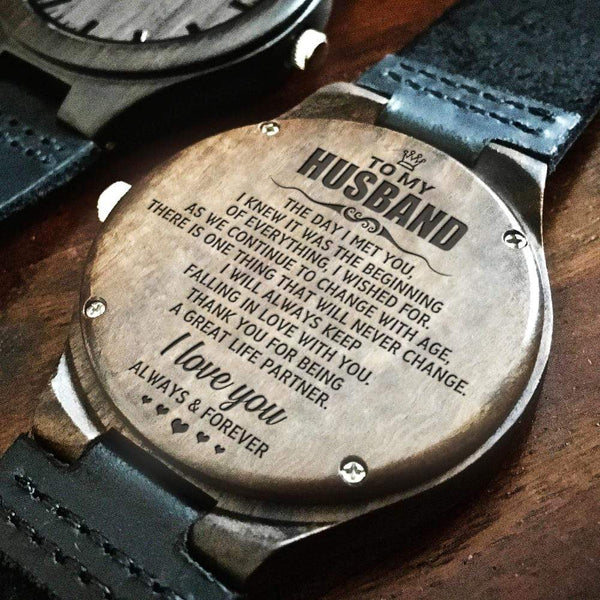 To My Husband - Wood Watch - WH-DF20B311