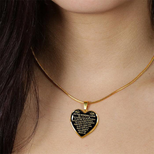 To My Love - Heart Necklace - FBHD16