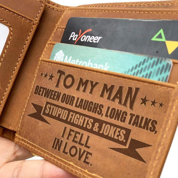 To My Man - Bi-fold Leather Wallet - WHWT01-FBOX14