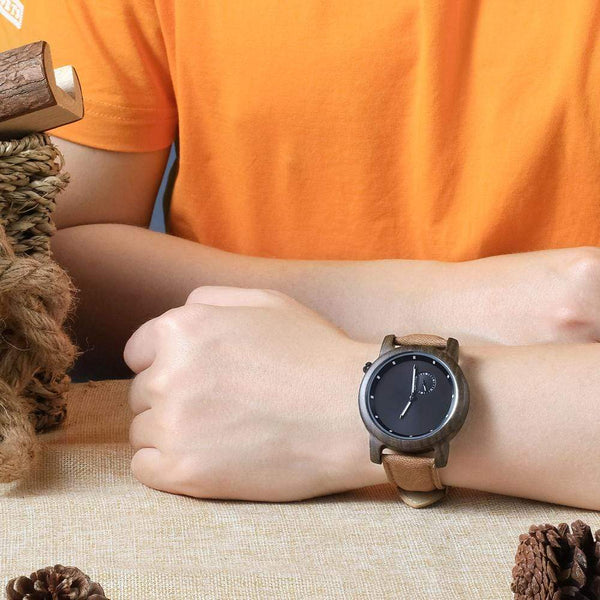 To My Man - Ebony Wood Watch - WH-DF23-14