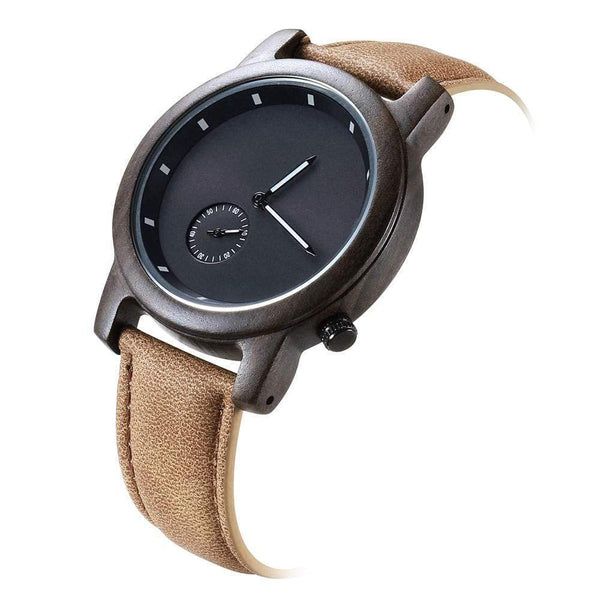To My Man - Ebony Wood Watch - WH-DF23-15