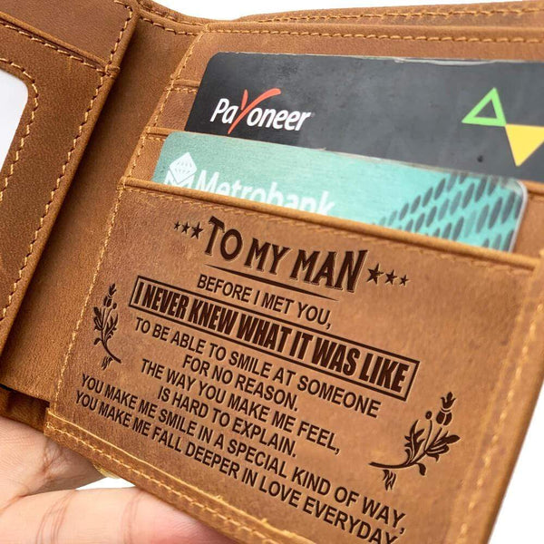 To My Man - Fine Bi-fold Leather Wallet - WHWT01-FBOX29