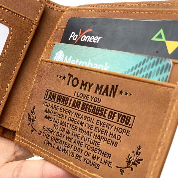 To My Man - Fine Bi-fold Leather Wallet - WHWT01-FBOX30