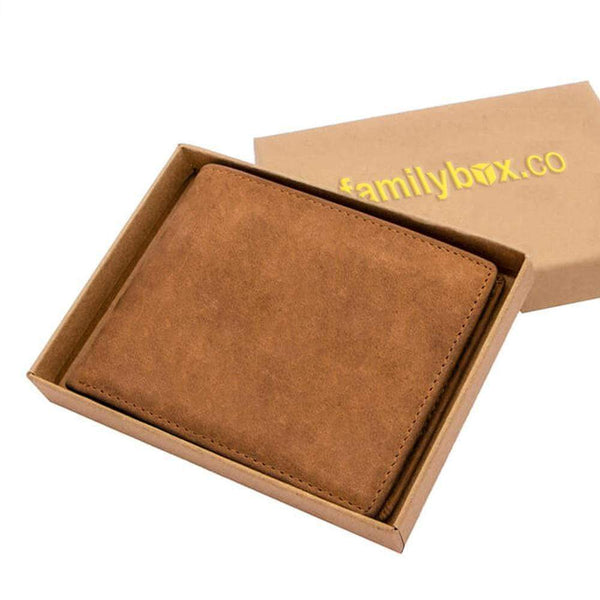 To My Man - Wine - Bi-fold Leather Wallet - WHWT01-FBOX28