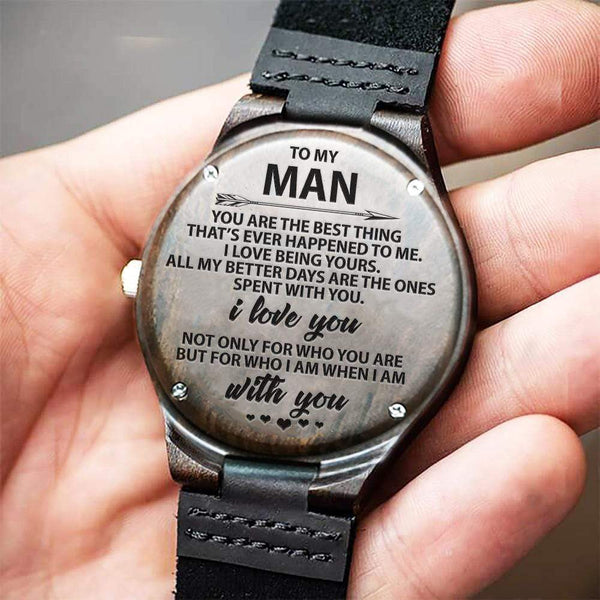To My Man - Wood Watch - WH-DF20B186