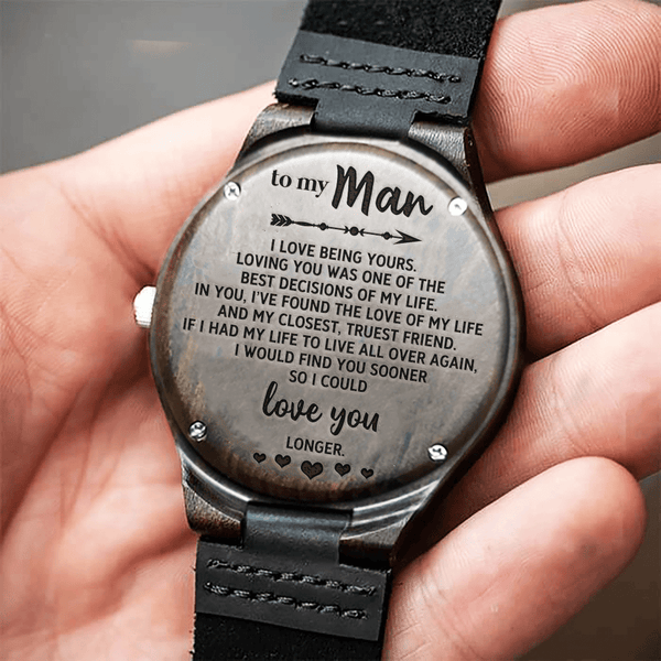 To My Man - Wood Watch - WH-DF20B195