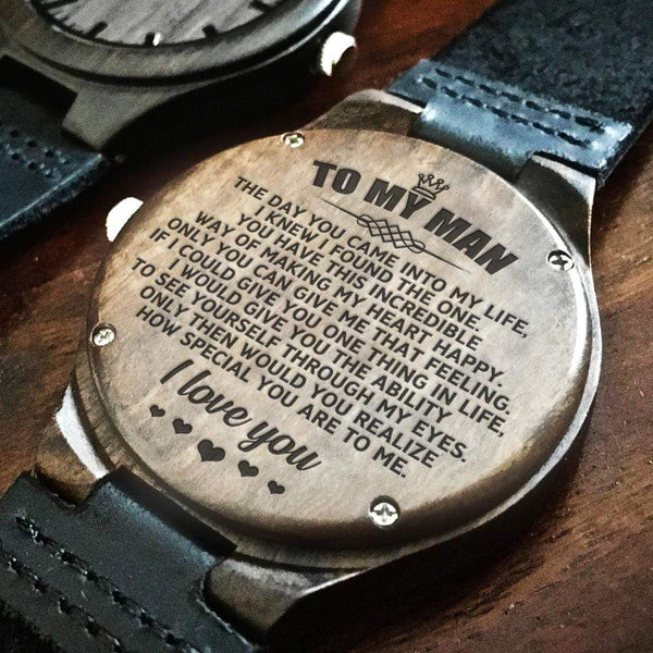 To My Man - Wood Watch - WH-DF20B276