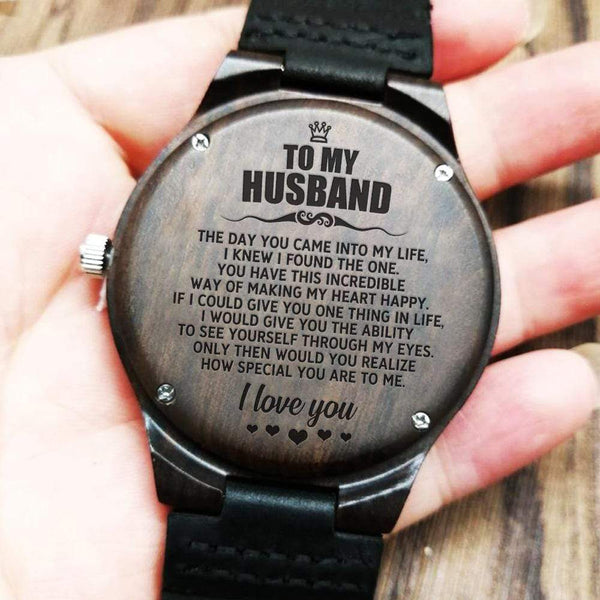 To My Man - Wood Watch - WH-DF20B284