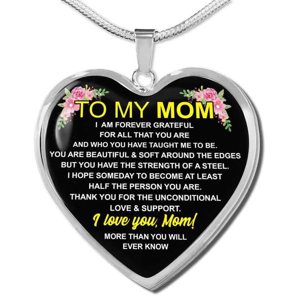 To My Mom - Heart Necklace - FBHD11