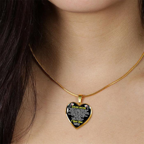 To My Mom - Heart Necklace - FBHD17