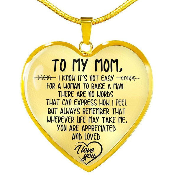 To My Mom - Heart Necklace - FBHD38