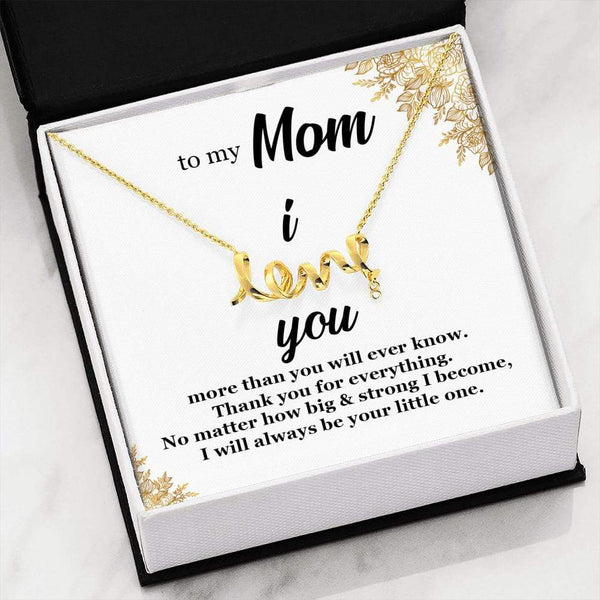 To My Mom - I Love You - Necklace - SO55