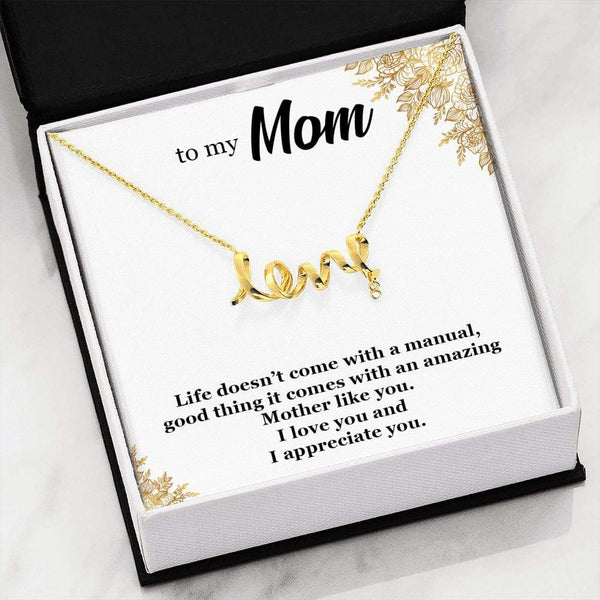 To My Mom - I Love You - Necklace - SO61