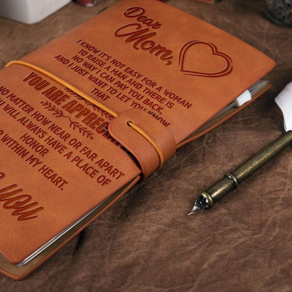 To My Mom - Leather Journal - WHNT-O-CUSTOM-11