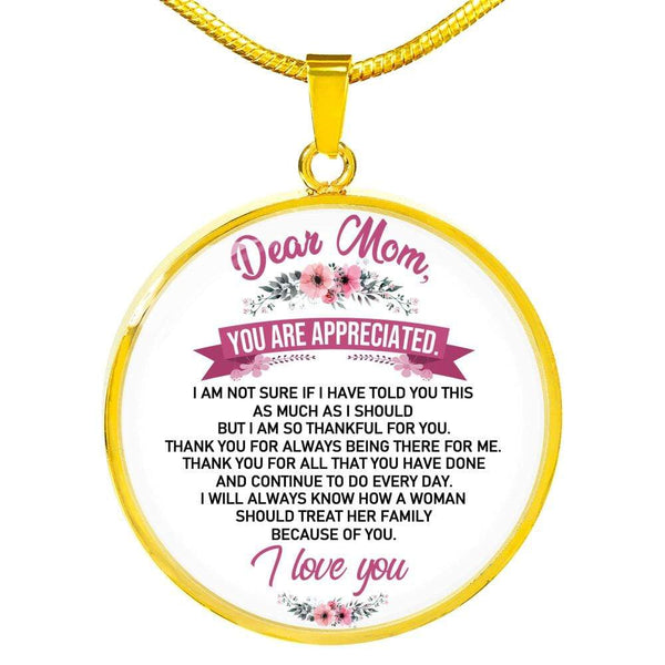 To My Mom - Love Necklace - FBCD10 *SHIPS IN 2 DAYS
