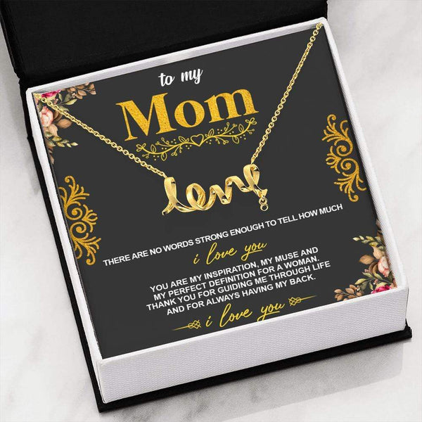 To My Mom - Love Necklace - SO167