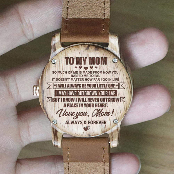 To My Mom - Vanilla Rose Wood Watch - WH-DF25-08