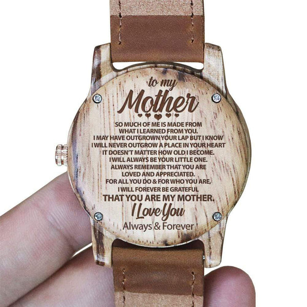 To My Mother - Vanilla Rose Wood Watch - WH-DF25-46