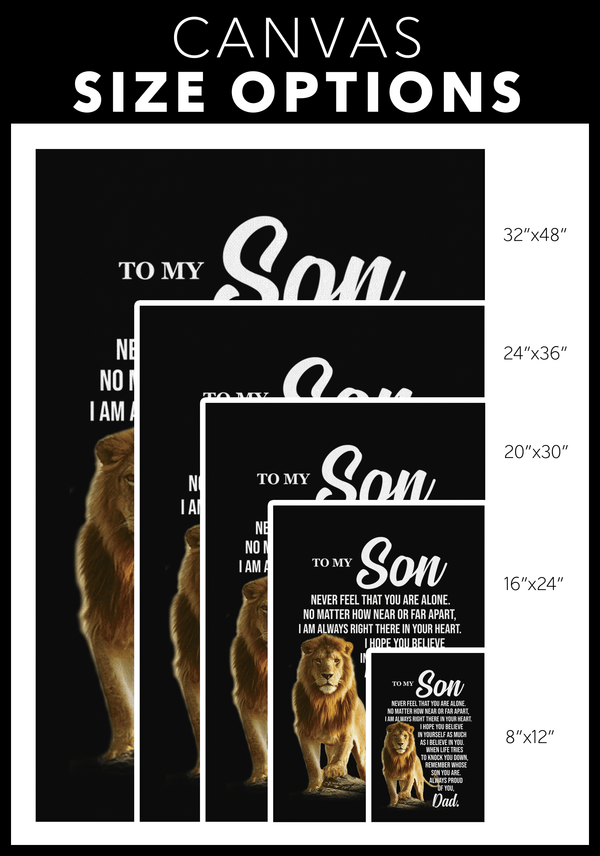 To My Son - From Dad - Premium Canvas Wall Art - TL07