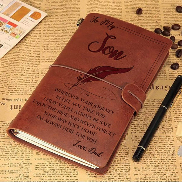 To My Son - From Dad - Sentimental Vintage Journal