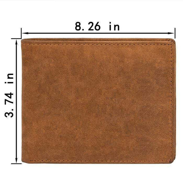 To My Son - From Mom - Bi-fold Leather Wallet - WHWT01-FBOX20