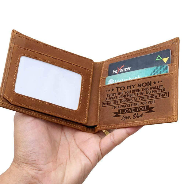 To My Son - From Mom - Bi-fold Wallet - WHWT01-FBOX12