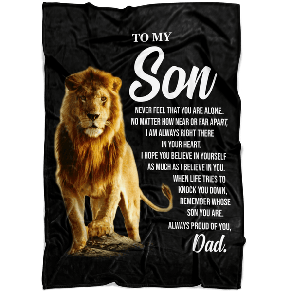 To My Son - Love Dad - Premium Fleece Blanket - TLBL24