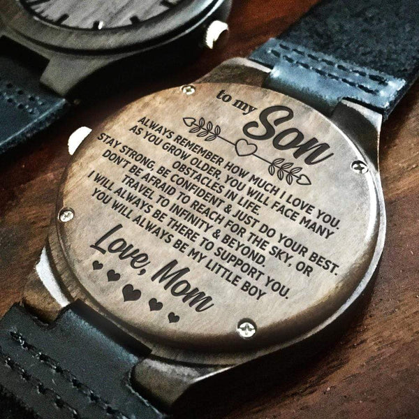 To My Son - Love Mom - Wood Watch - WH-DF20B239