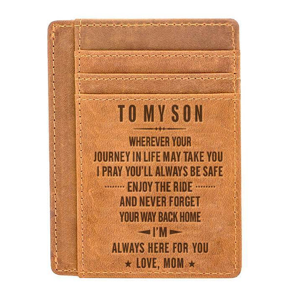 To My Son - Slim Leather Wallet - WHWT02-05