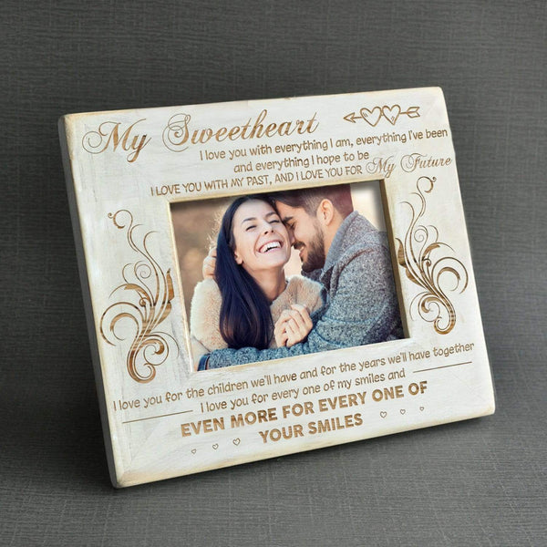 To My Sweetheart - Engraved Wood Frame - WHPT011-01