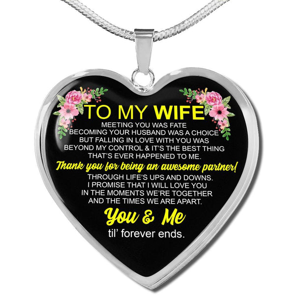 To My Wife - FBDH08 - Heart Necklace