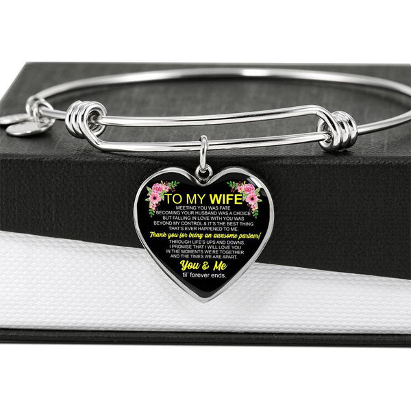 To My Wife - FBHD08 - Heart Bangle