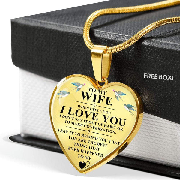 To My Wife - Heart Necklace - FBHD33