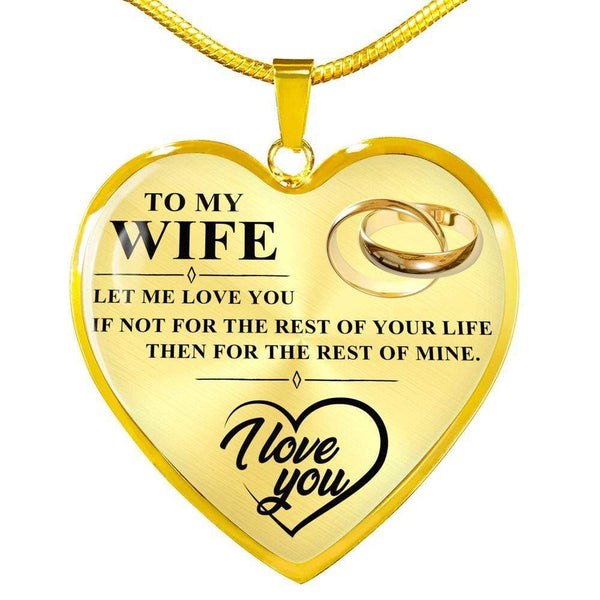 To My Wife - Heart Necklace - FBHD35