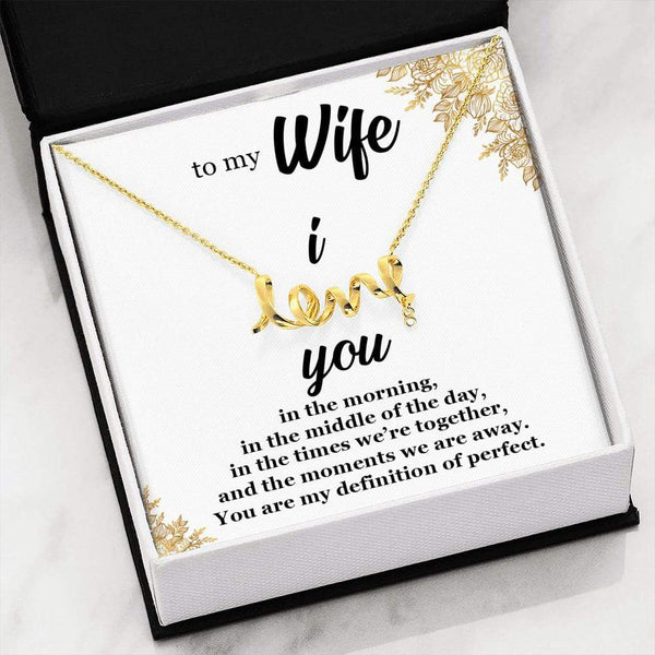 To My Wife - I Love You - Necklace - SO56