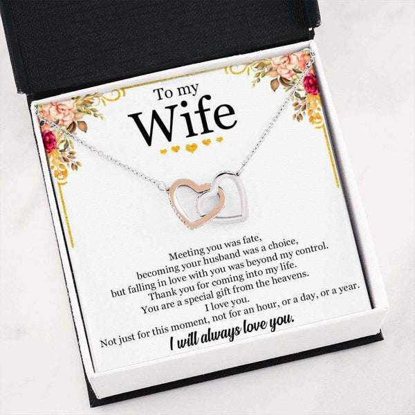 To My Wife - Interlocked Necklace - SO403