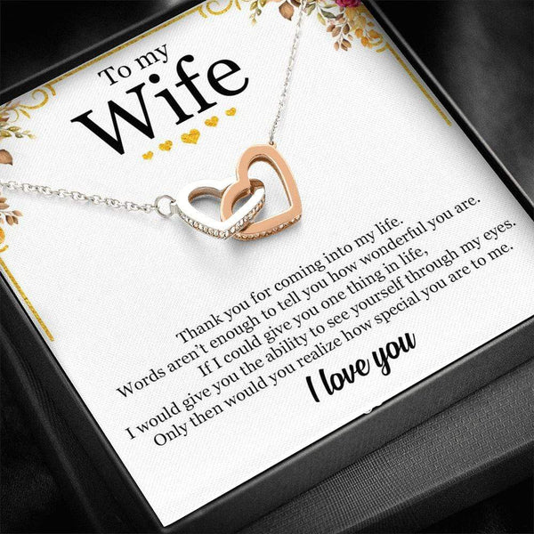 To My Wife - Interlocked Necklace - SO416