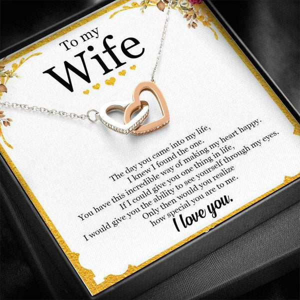 To My Wife - Interlocked Necklace - SO449