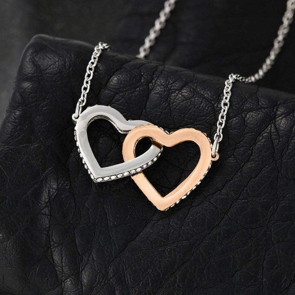 To My Wife - Interlocking Hearts Necklace - SO494