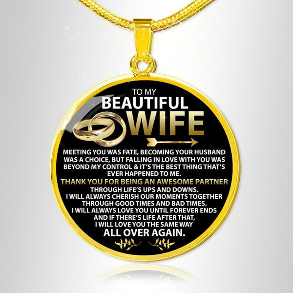 To My Wife - Love Necklace - FBCD01