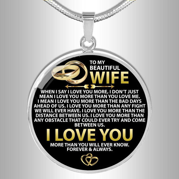 To My Wife - Love Necklace - FBCD02