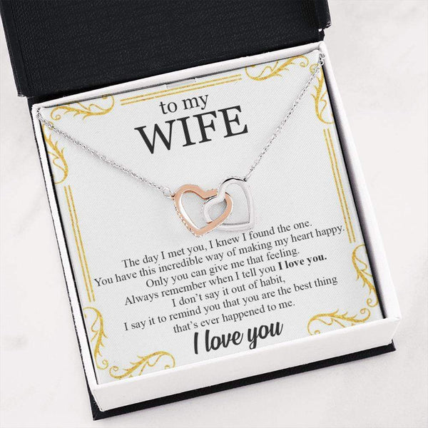 To My Wife - Love Note Necklace - SO501