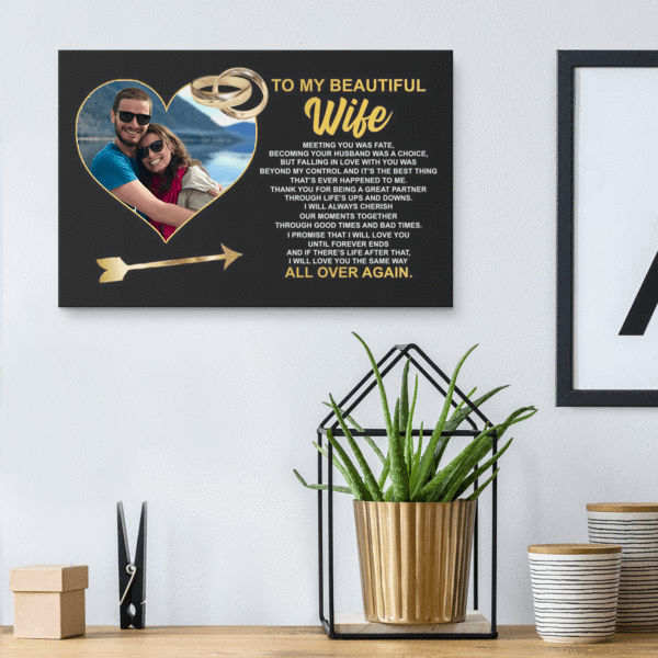 To My Wife - Personalized Photo Premium Canvas Wall Art - WA02