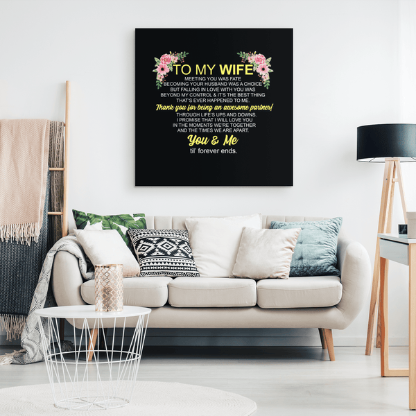 To My Wife - Premium Canvas Wall Art - WA09