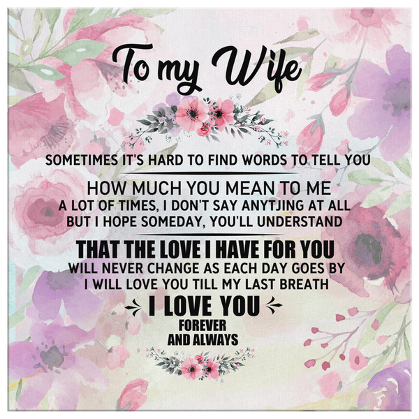 To My Wife - Premium Canvas Wall Art - WA24