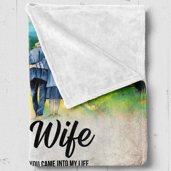 To My Wife - Premium Fleece Blanket - TLBL36