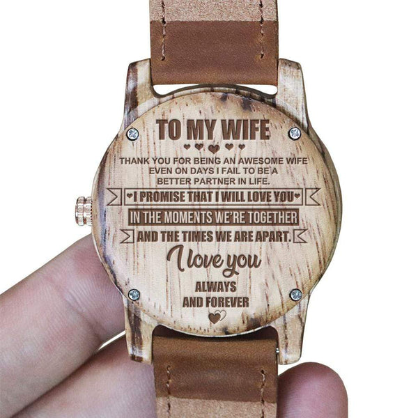 To My Wife - Vanilla Rose Wood Watch - WH-DF25-07