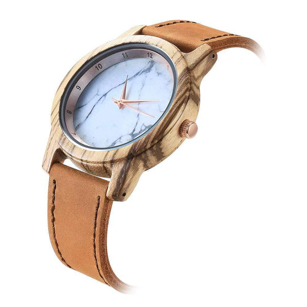 To My Wife - Vanilla Rose Wood Watch - WH-DF25-43