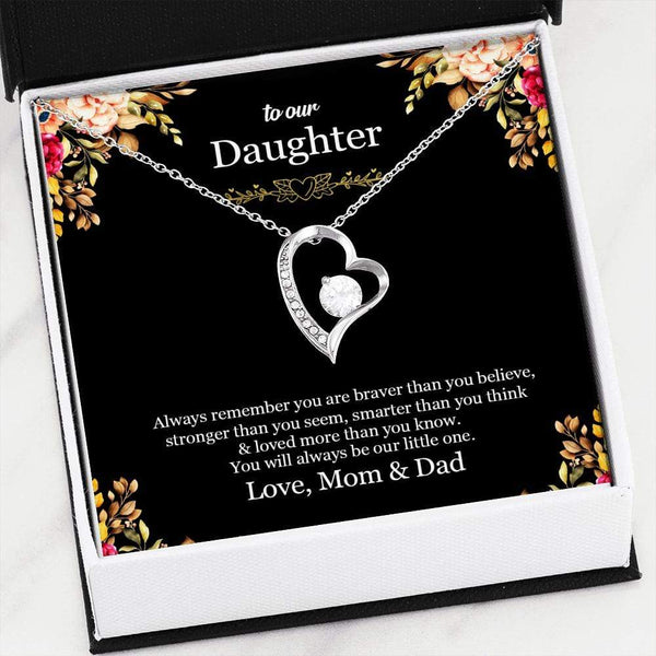 To Our Daughter - LoveCube Heart Necklace - SO41